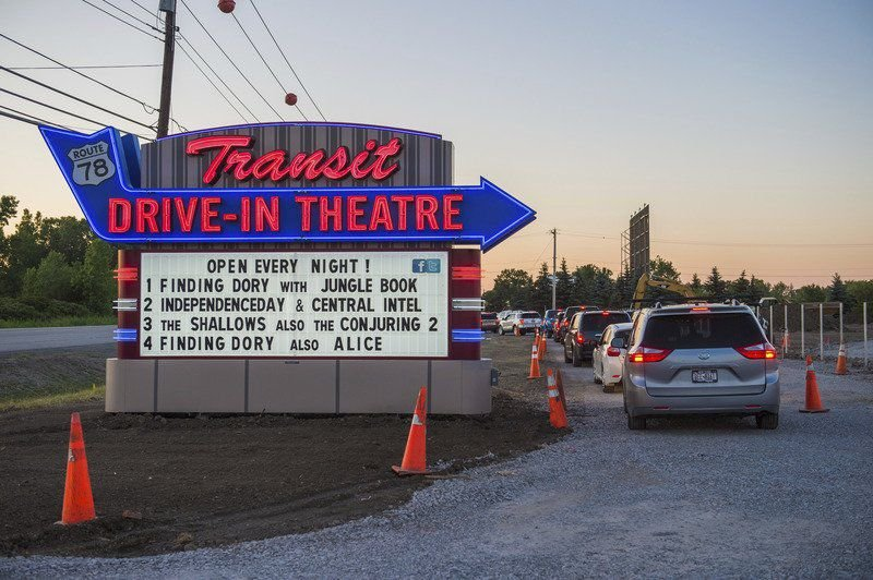 The transit drive in theatre lockport ny