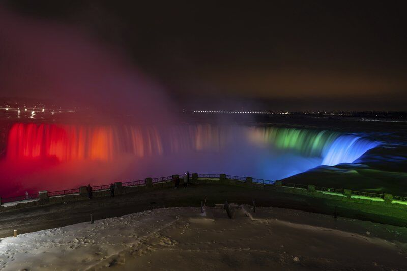 'Inspired by Nature' light show underway at Niagara Falls