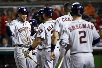 Cole, Astros hammer Nats, takeWorld Serieslead
