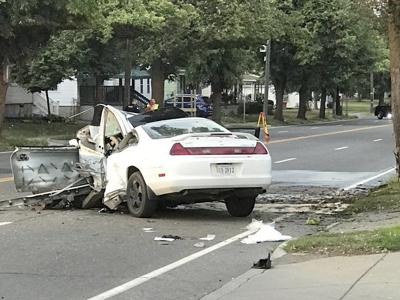 One dead, one injured in car-on-tree crash Monday morning