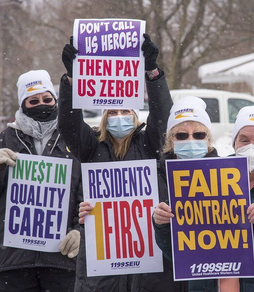 Pickets draw attention to quality of care at nursing homes