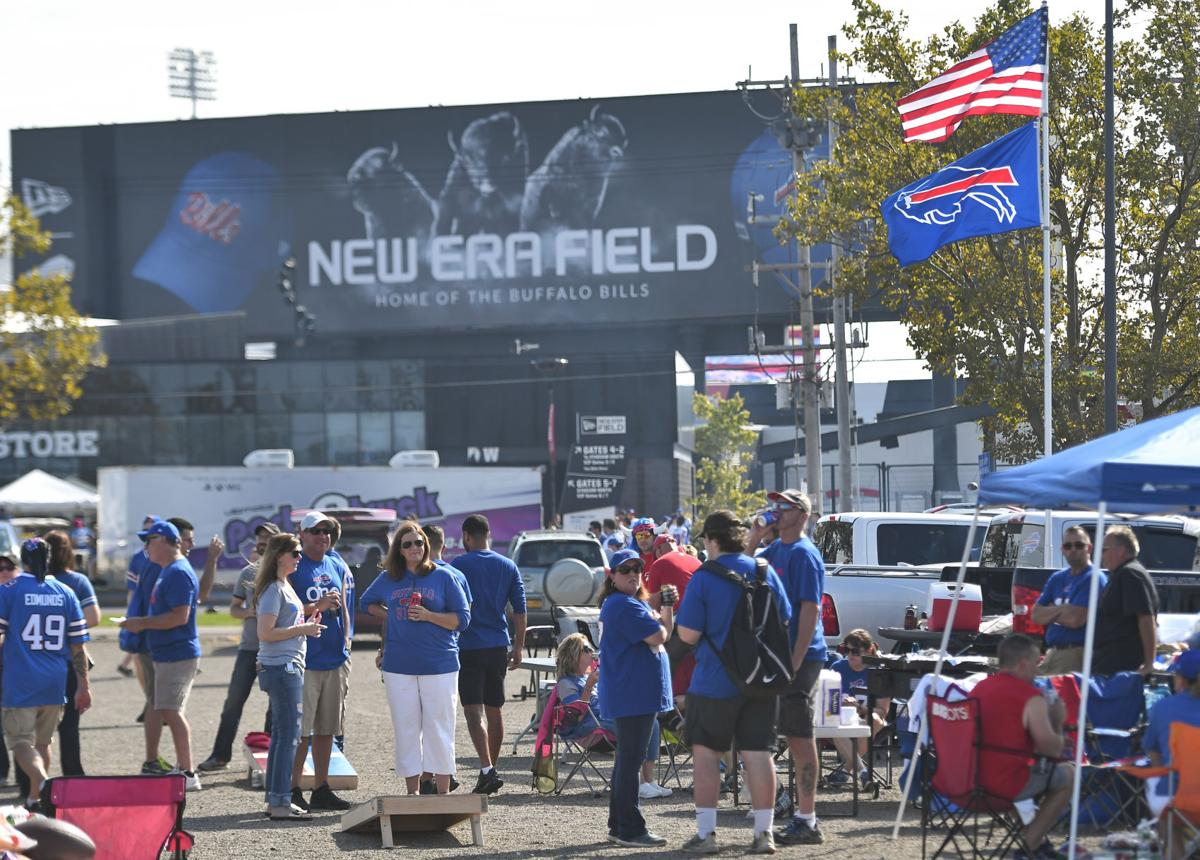 super popular 28b54 97b7b SLIDESHOW: Bills fans out in force for home opener at New ...