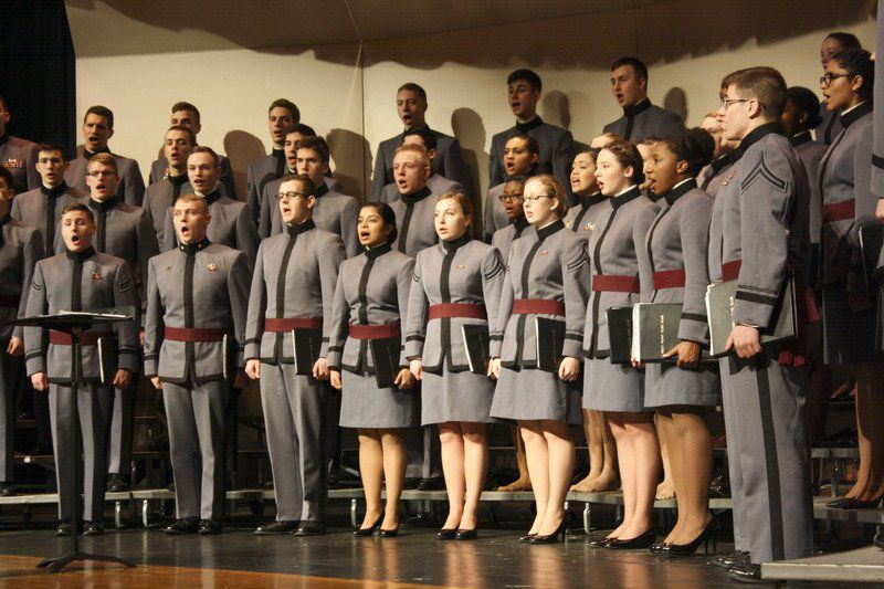West Point Glee Club puts on a show for Newfane High schoolers