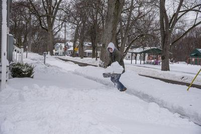 The sidewalk shoveling shuffle