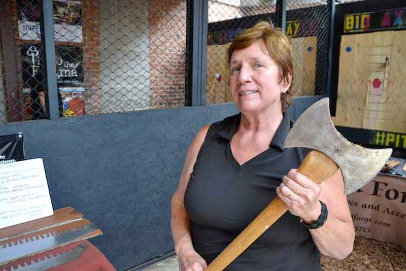 Champion wood cutter honored by her alma mater