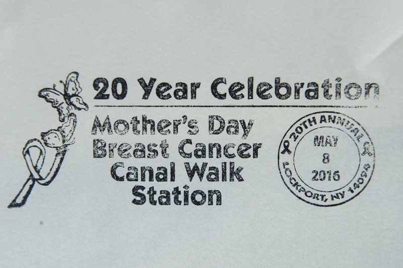 Pictorial postmark to commemorate Breast Cancer Canal Walk
