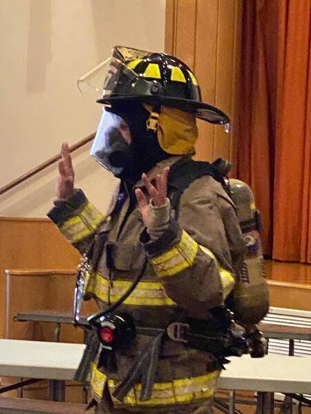 Roy-Hart principal returns to teaching during Fire Prevention Week