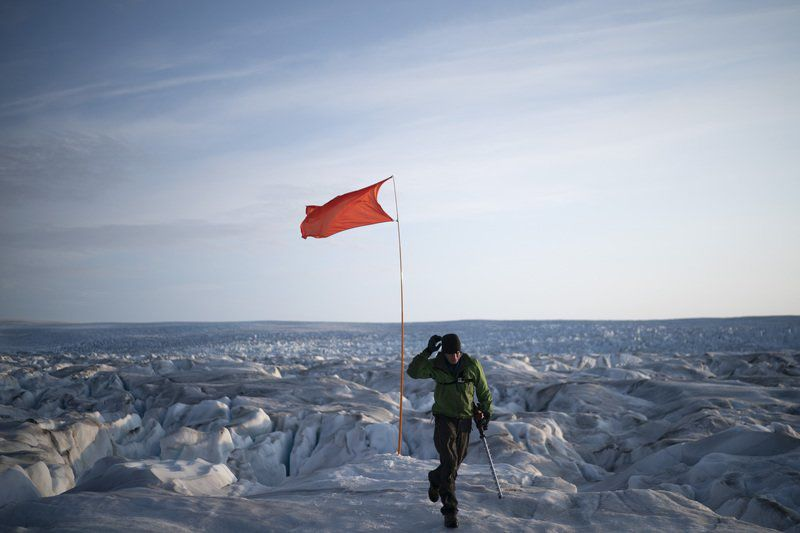 Earth's future being written in fast-melting Greenland