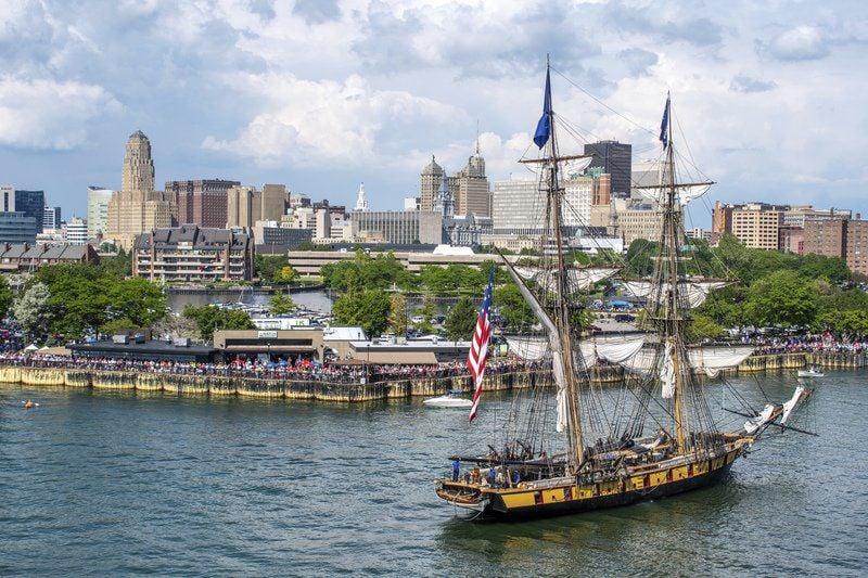 Tall ships sail arrive in Buffalo as part of Parade of Sail