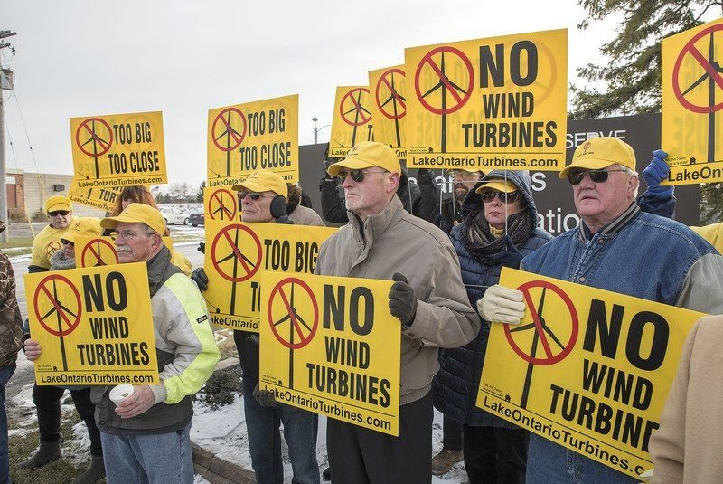 Protestors say turbines could pose threat to NF air base