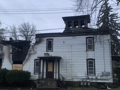 Three house fires were fought on Sunday, in Lockport and Middleport