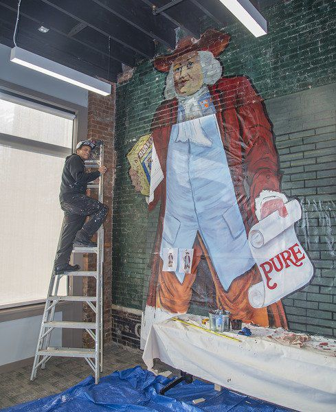 Unexpected art project adds to allure of Falls business incubator