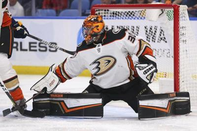 Miller stops 31 shots, Ducks hang on to beat Sabres