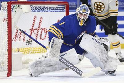 Sabres goalie Luukkonen wins 1st NHL start vs Bruins