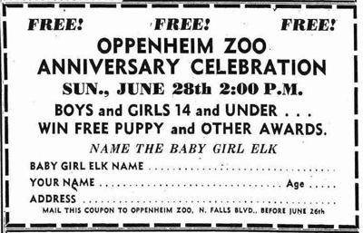 NIAGARA DISCOVERIES: Oppenheim Zoological Society