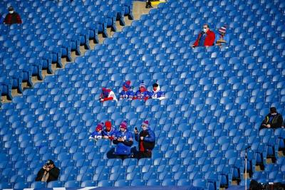 Lucky few fans eager to cheer Bills from stands