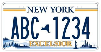 New license plate features Falls image