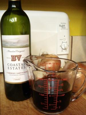 Red wine to be sacrificed to the pot