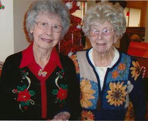 Virginia Buller, Lillian Davis celebrate birthdays in December