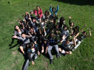 Students find new use for discarded lawn clippings
