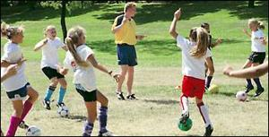 Local soccer players get English-style lesson