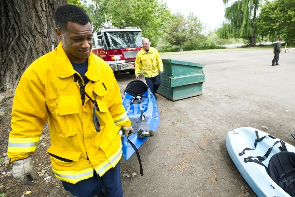 Fire department gives trucks annual checkups at Lodi Lake