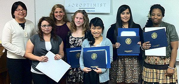 Soroptimists presented awards to honor women and girls