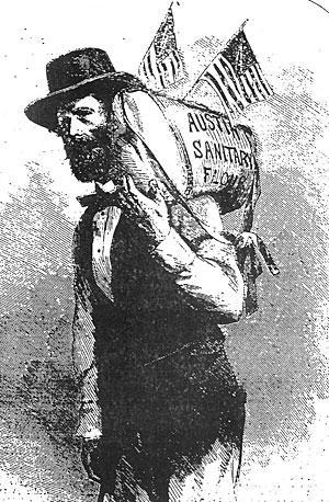 Reuel Gridley and a sack of flour