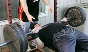 Galt weightlifter David Knight, 17, bench pressing 440 pounds and counting