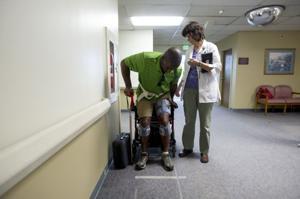 'RoboDad' Tracy Williams regains his footing