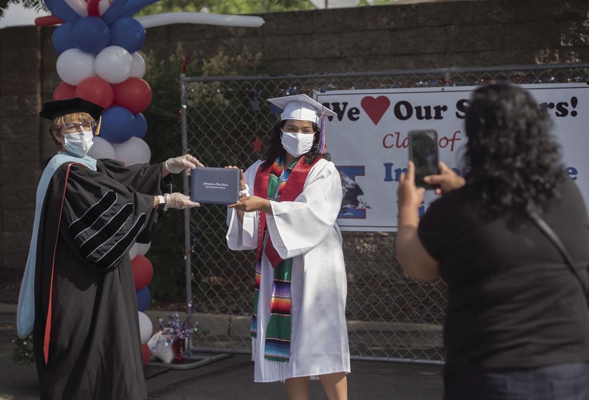 Independence High drive-thru graduation