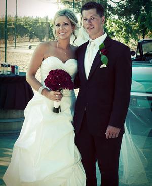 Dustin Shock, Karis Kauffroath were married in July