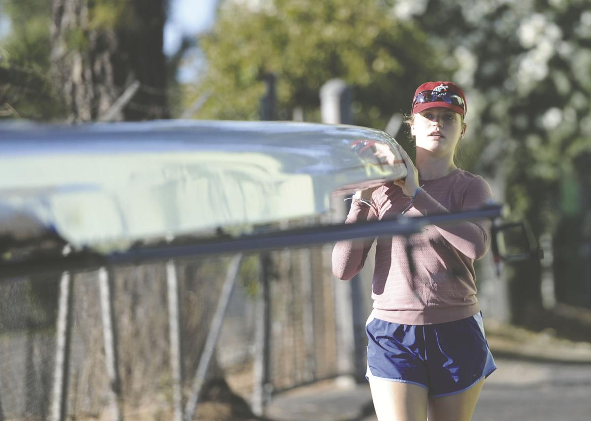 Collegiate sports: Recent grad Aberle takes up oars