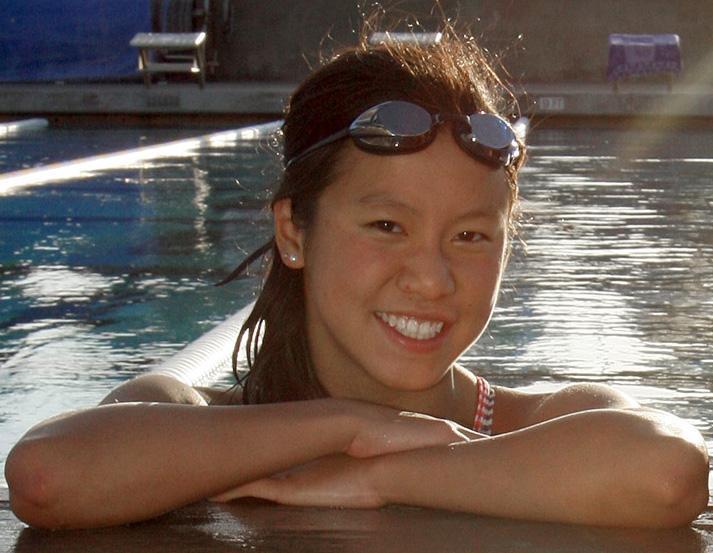Cayla Nishizaki wins three events at Folsom swim meet