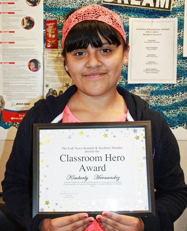 Lawrence Elementary School names Classroom Heroes