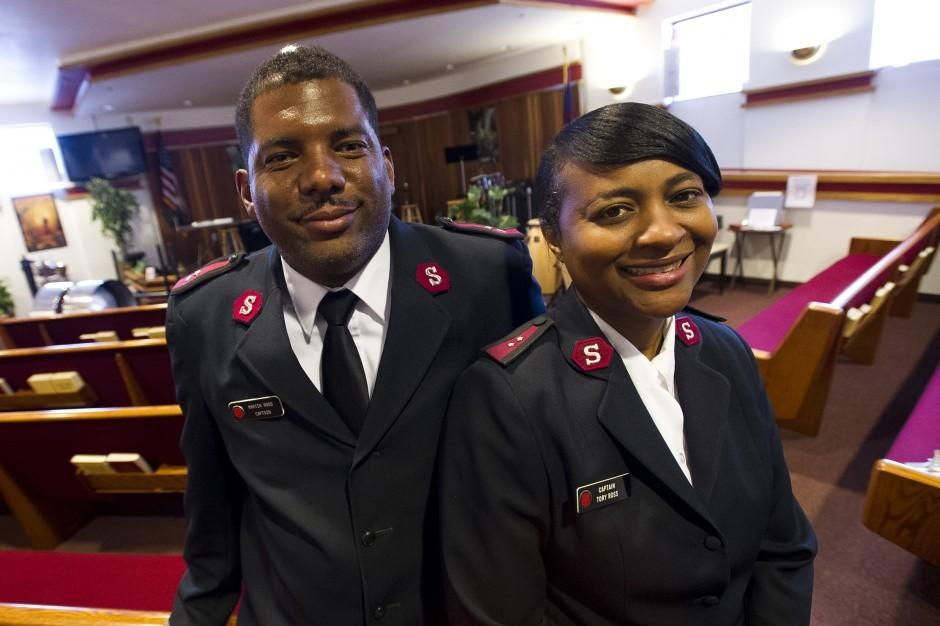Salvation Army captains Martin and Tory Ross report for duty