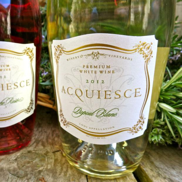 2012 Acquiesce Lodi Picpoul Blanc is sweet, bright, zesty