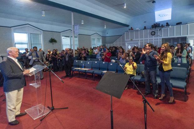 Immigration activists speak at Iglesia Biblica El Calvario in Lodi