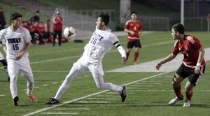 Boys soccer: Rosales' hat trick spurs Tigers past Trojans in league opener