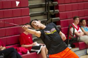 Boys badminton: Flames sweep Tigers