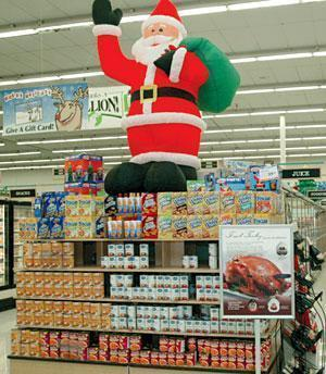 Local grocery stores are getting ready for the Christmas rush ...