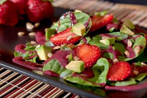 Enjoy locally-grown strawberries plain or in variety of dishes