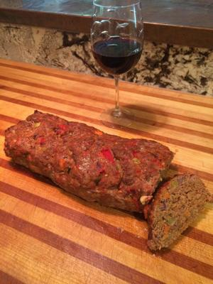 Sauteed vegetables and spices make meatloaf an elegant comfort food