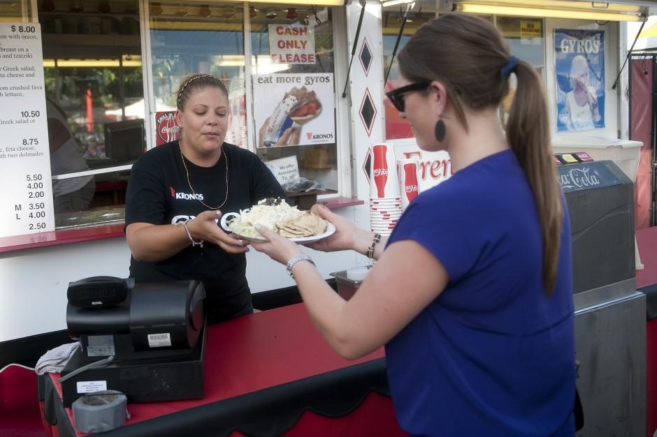 Emergency medical technician, dietitian find tasty, healthy meals at Lodi Grape Festival