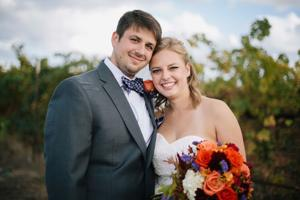 Tyler Selles and Melissa Engelhardt were married at Grace Vineyards