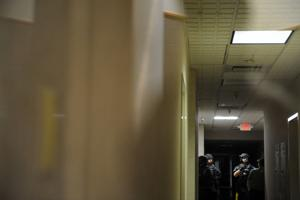 Lodi Police Department's SWAT team trains in old General Mills office