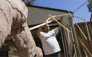 Lodi dad is building a monster dragon to scale in a driveway workshop