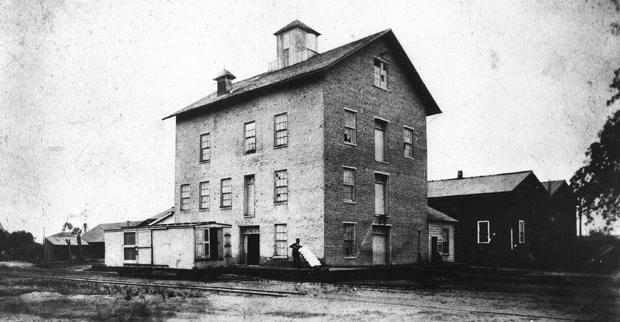 Lodi Sentinel founder's flour mill in 1876