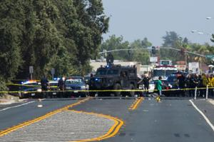 Three dead after Stockton bank robbery, police chase that went through Lodi