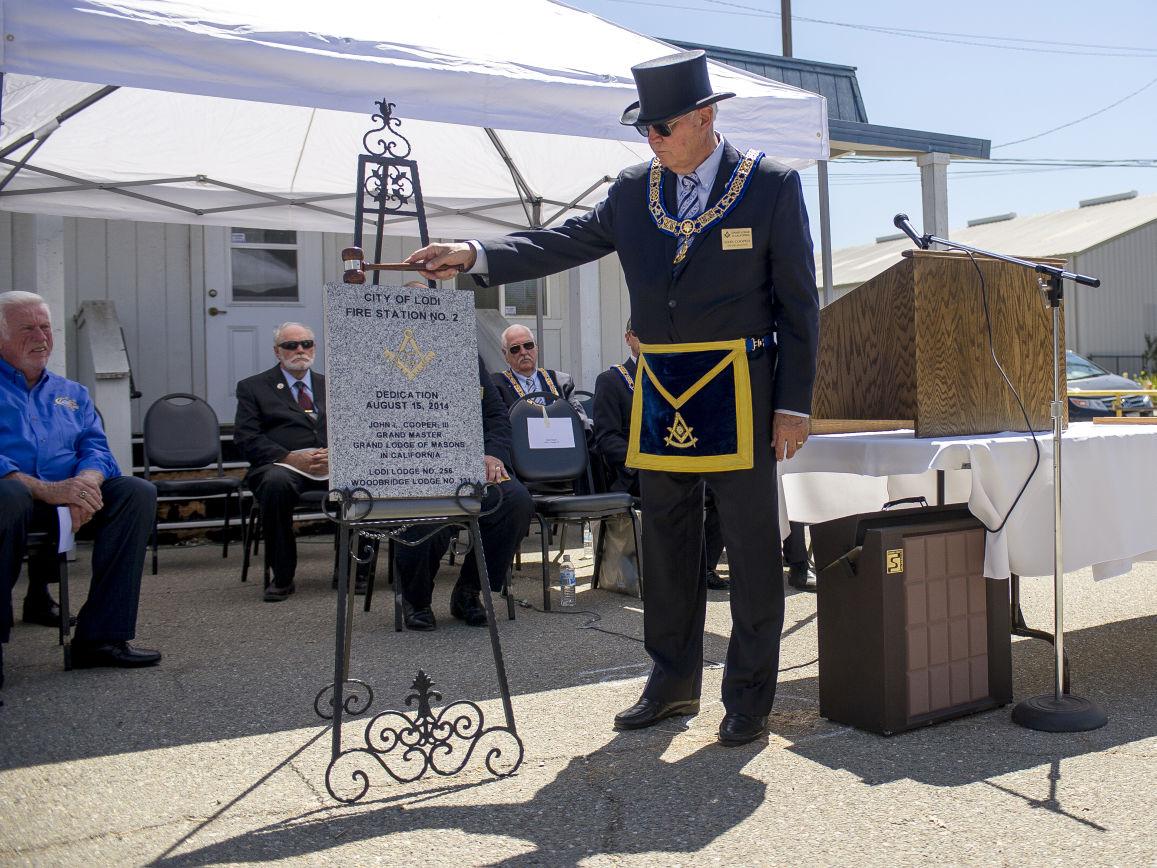 Freemasons hold cornerstone ceremony for new Lodi fire station